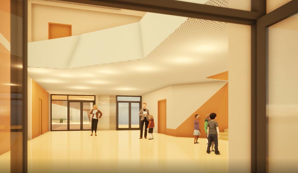 Simulation 3D, école Libermann